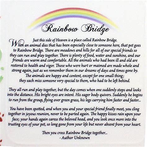 rainbow bridge poem dogs pet bereavement photo frame rainbow bridge poem buy in uae misc products