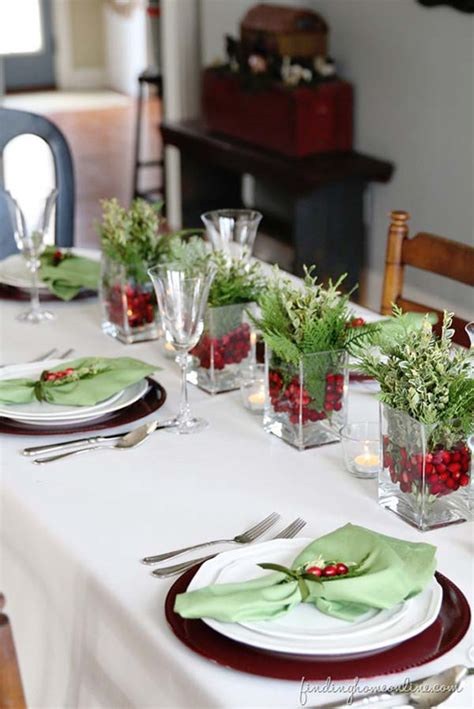 ideas for christmas table decorations easyday