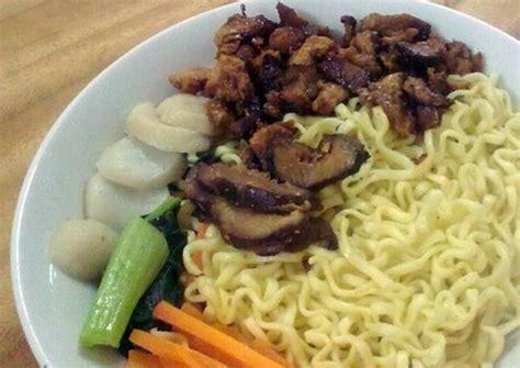 resep membuat ikan mie ayam resep mie ayam jamur baso ikan oleh liliyani cookpad