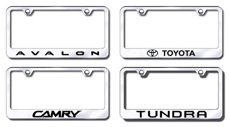 toyota camry license plate frame toyota stainless steel license plate frames tag holders