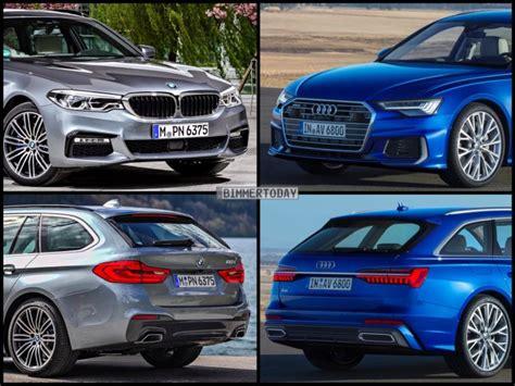 Vergleich Audi A6 Bmw 5er by Bild Vergleich Neuer Audi A6 Avant 2018 Vs Bmw 5er Touring
