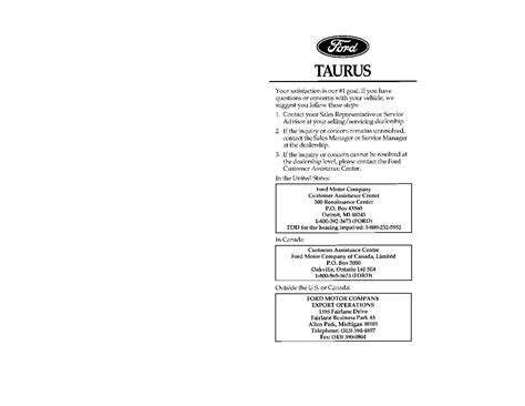 service manual pdf 2006 ford taurus transmission service repair manuals 2006 ford taurus 1996 ford taurus owners manual just give me the damn manual