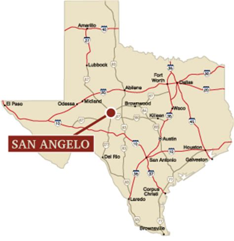 texas map san angelo university profile