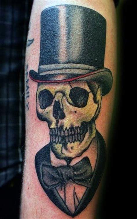 top hat tattoo skull hat www pixshark images galleries
