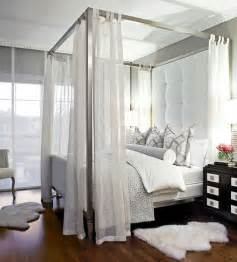 White Canopy Bedroom Big Headboard Contemporary Bedroom Traditional Home
