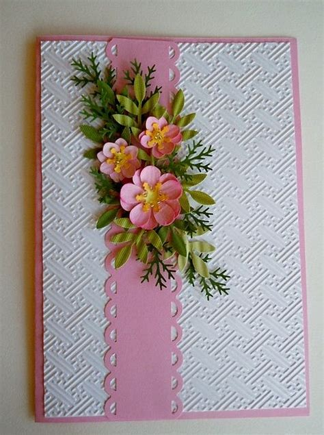 Paper Flowers For Greeting Cards - paper punch floral card by lovewafoo via flickr