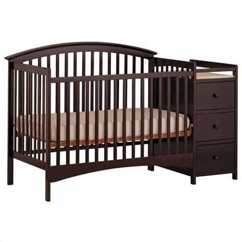 4 In 1 Convertible Espresso Crib Changer 04586 359 Baby Cribs With Changer