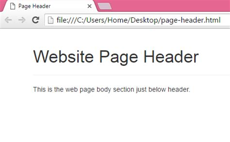 section bootstrap create web page header using bootstrap classes in html php