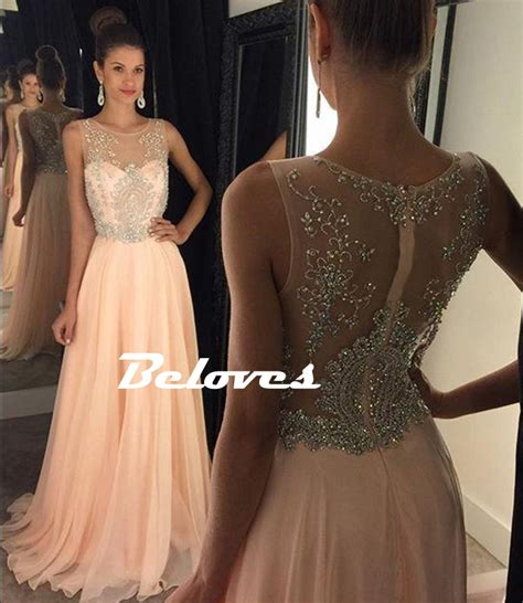 Hq 18477 Low Shoulder Evening Dress sheer back prom dresses prom dresses dressesss