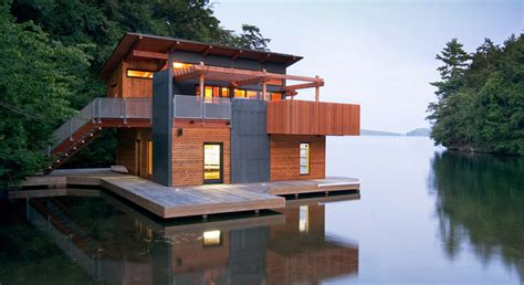 chic muskoka boathouse will have you longing for the