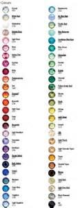 swarovski colors memories swarovski color chart