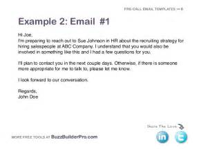 sle email to recruiter with resume cold emailing templates for prospecting
