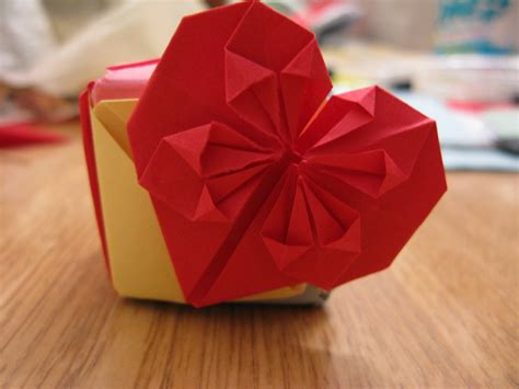 How To Make A Paper Hart - simple decorative origami book