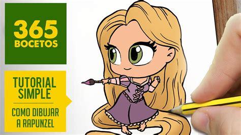 Imagenes De Rapunzel Kawaii   como dibujar a rapunzel dibujar princesas disney en