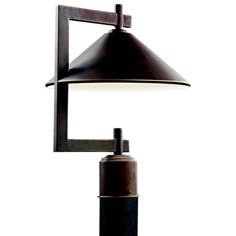 Kichler Post Lights Kichler 49063oz 60w Ripley Outdoor Post Light In Olde Bronze Finish 1 Light Homeclick