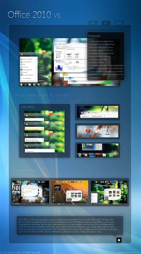 computer themes for powerpoint 2010 office 2010 vs seven theme themes for pc