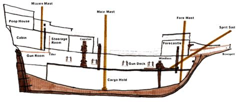 ship section names mayflower