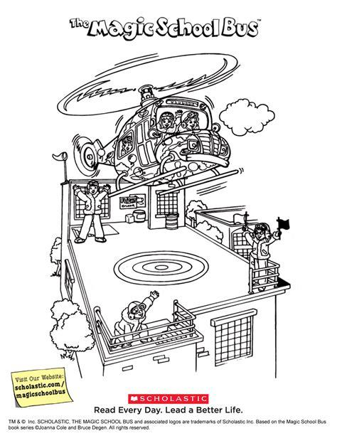 the magic school bus printable liz peeking scholastic com