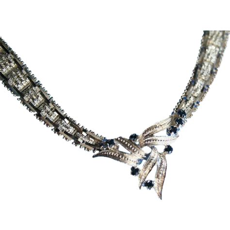 sapphire 925 woven sterling silver chain necklace italy
