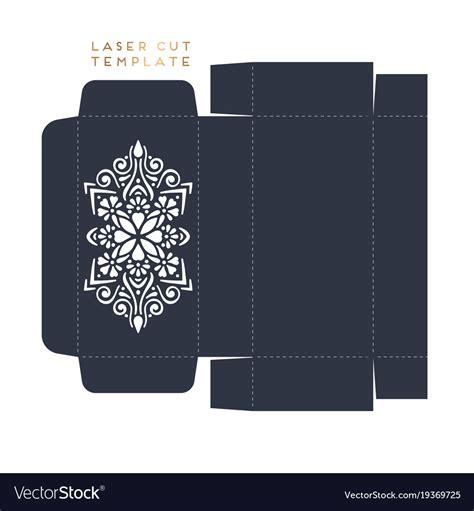 card box template vector wedding card laser cut template box royalty free vector