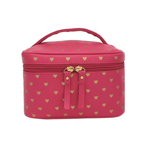 Vanity Cases by Bisous Gold Hearts Vanity Cases