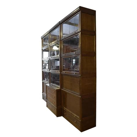Book Cabinet With Doors Multi Door Book Cabinet With Desk For Sale At 1stdibs