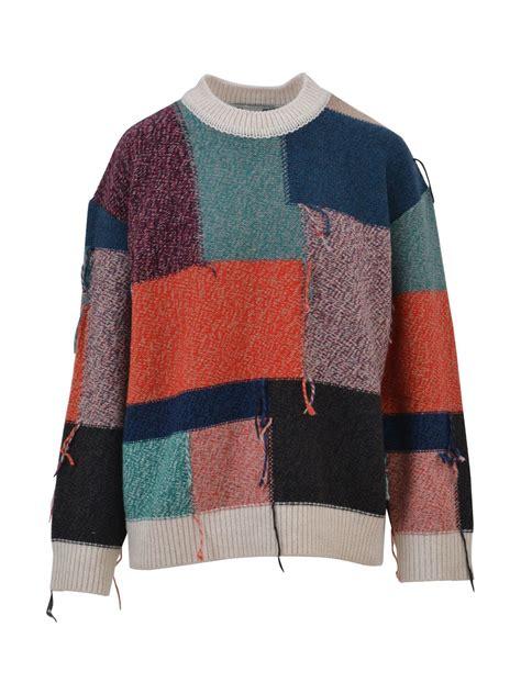 Patchwork Sweater - stella mccartney stella mccartney patchwork sweater