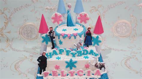 birthday cake frozen elsa  membuat kue