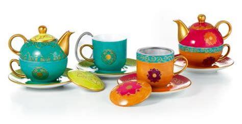 Coffe Cups 83413 tea for one set quot chandi quot porcelain gold application