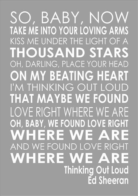 ed sheeran out loud lyrics thinking out loud ed sheeran word wedding valentines words