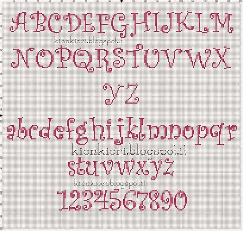 lettere punto croce corsivo kionkiori punto croce un due tre alfabeti