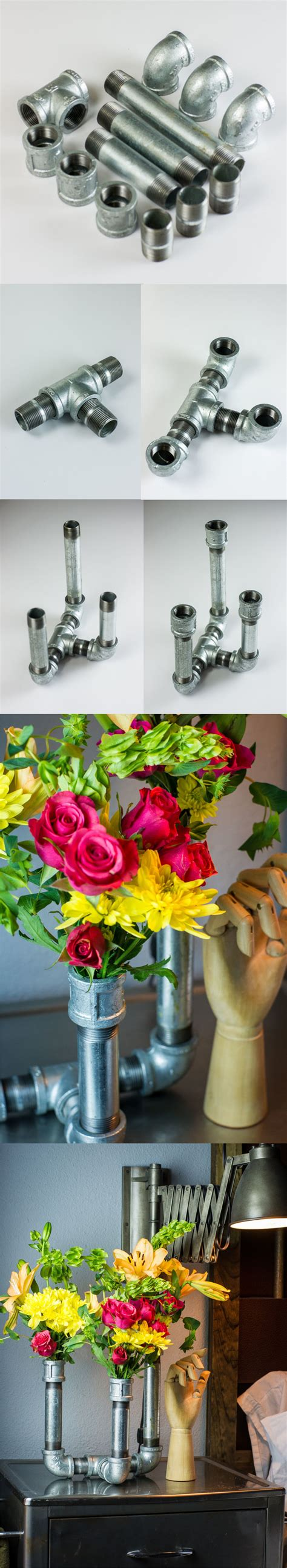 floreros galvanizados florero con tubos galvanizados tubo galvanizado