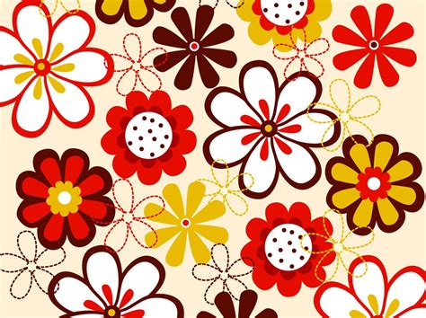 pattern for flower vector flowers pattern