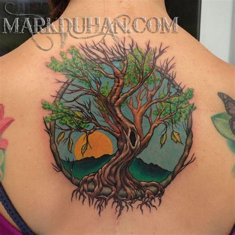 life tree tattoo tree of in color search tattoos