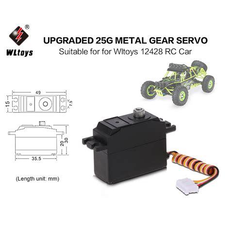 original wltoys upgraded 25g metal gear servo for wltoys