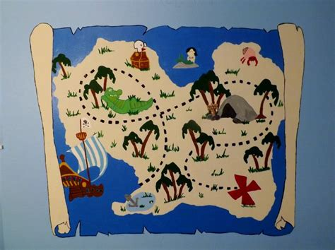 Jake And The Neverland Treasure Map Template
