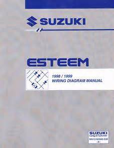 how to download repair manuals 1998 suzuki esteem transmission control 1998 1999 suzuki esteem factory wiring diagrams manual
