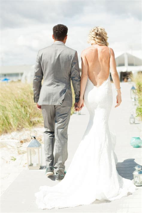 Daring Open Back Wedding Dresses   PreOwned Wedding Dresses