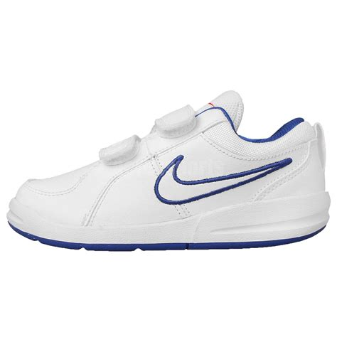 preschool nike shoes nike pico 4 psv white blue boys preschool velcro