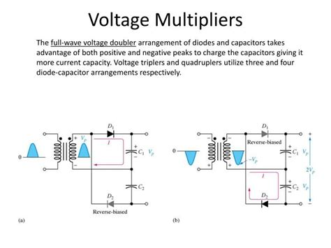 electrolytic capacitor voltage multiplier voltage doubler capacitor rating 28 images ppt electronics 1 lecture 7 diode types and