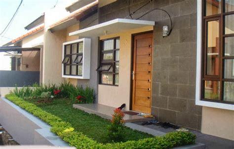 contoh desain depan rumah taman depan rumah minimalis elegan simpel desain tipe rumah