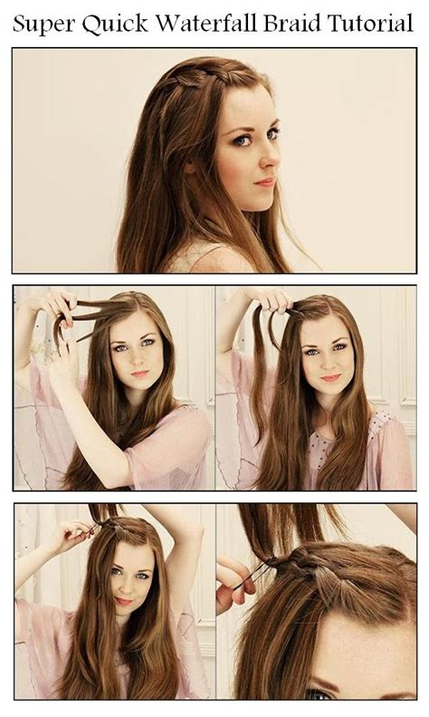 easy hairstyles without braids how to make a beautiful waterfall braid waterfall braid