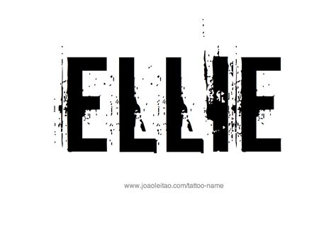 Ellie Name Ee Tattoo Ee Ee Designs Ee