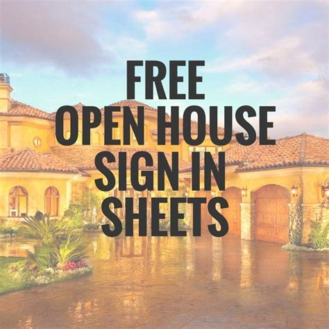 printable open house sign 5 simple open house sign in sheet templates for realtors