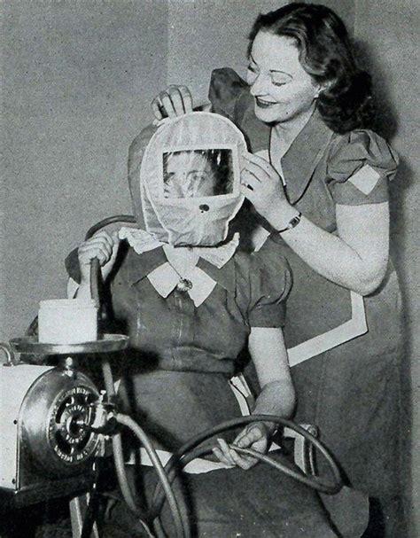 Hair Dryer Jaman Dulu how procedures looked in the 1930s 40s bored panda