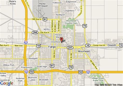 map of fargo nd map of howard johnson inn fargo nd fargo