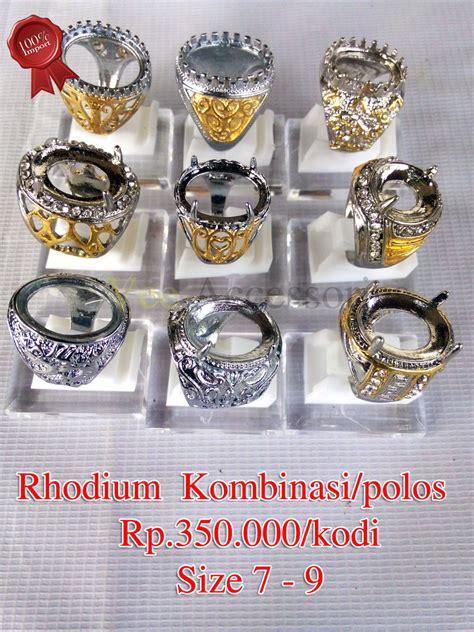 jual grosir ring emban ikatan cincin rhodium grade a