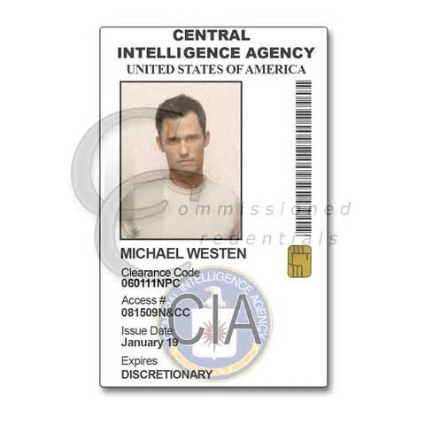cia burn notice commissioned credentials
