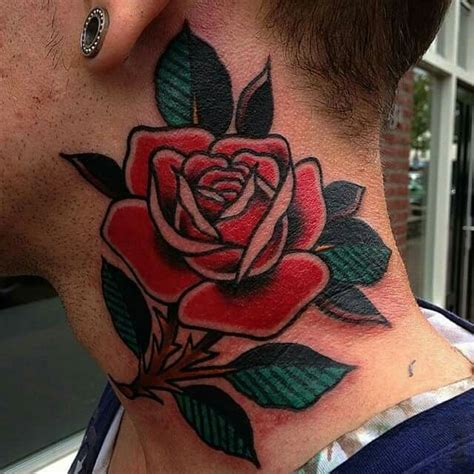 neck tattoo windows 7 as 25 melhores ideias de rose neck tattoo no pinterest