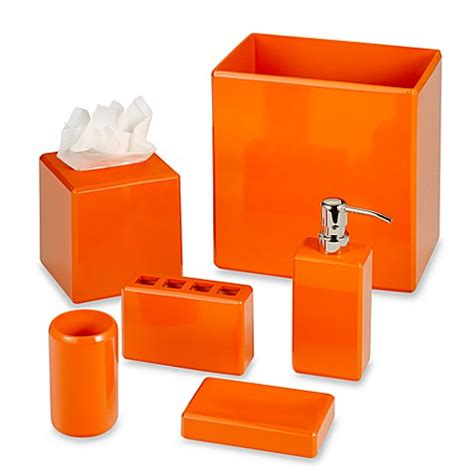 district lacquer orange toothbrush holder bed bath beyond